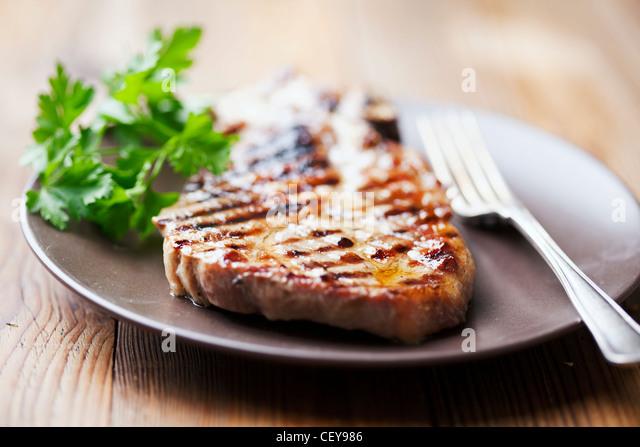 pork chop - Stock Image