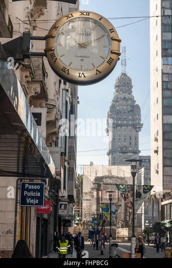 Montevideo Palacio Salvo Uruguay - Stock Image
