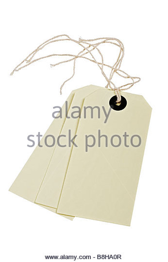 Luggage/parcel tags - Stock Image