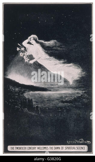 The Twentieth Century welcomes  the dawn of Spiritual Science         Date: 1900 - Stock Image