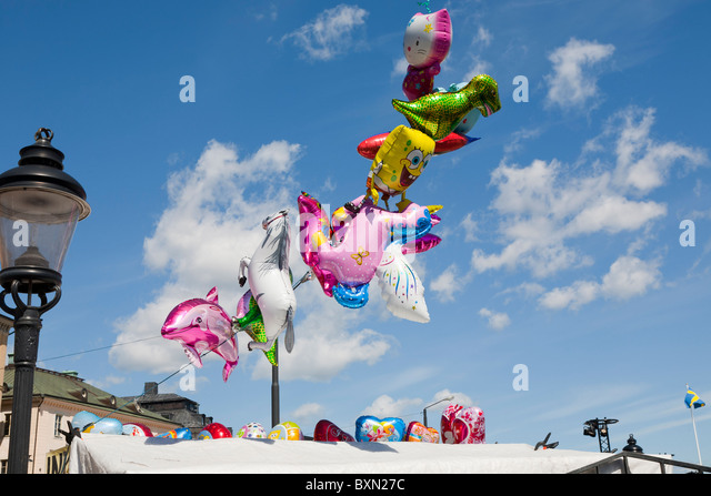 Baloons in the air - Stock Image