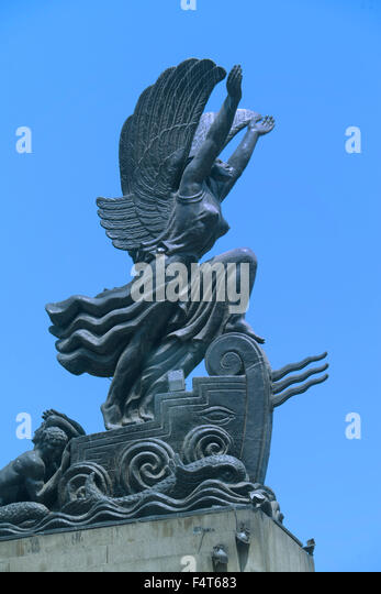 South America, Latin America, Peru, Lima, Monument - Stock Image