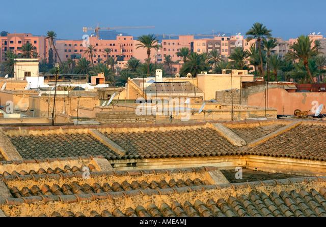 Marrakech rooftop view stock photos marrakech rooftop for 1161 dawn view terrace