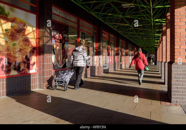 Nottinghamshire Market town of Mansfield,UK. - Stock-Bilder