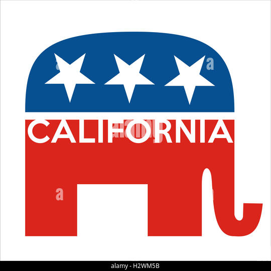 republicans california - Stock Image