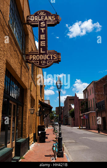 New Orleans, Louisiana, USA - June 17, 2014: View of a street in the French Quarter in the city of New Orleans, - Stock-Bilder