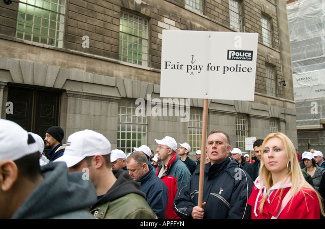 Police March On Westminster In Pay Protest 23/01/08 - Stock Image