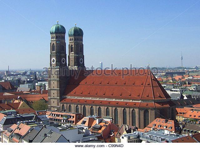 Munich frauenkirche Hausdcher - Stock-Bilder