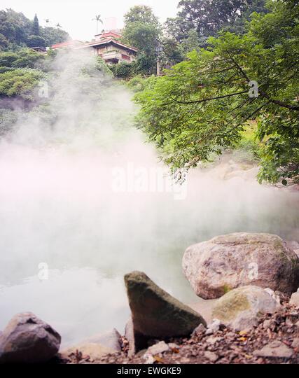 Beitou ( Peitou) Hot Springs. Taipei, Taiwan - Stock Image