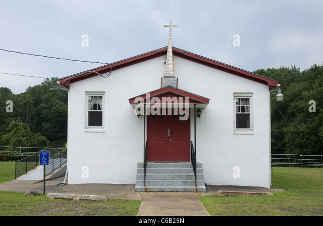 Humble church near Salem, New Jersey - Stock Image