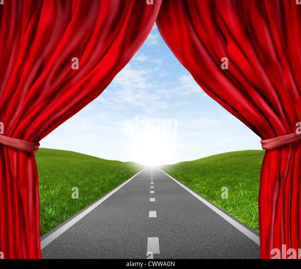 Dramatic Stage With Red Velvet Theater Curtains Pictures to pin on ...