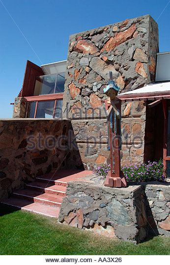 Taliesin West Architect Frank Lloyd Wright s Studio and Home Scottsdale Arizona Building Started 1937 - Stock Image
