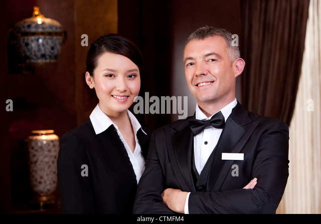 Portrait of professional service staff - Stock Image
