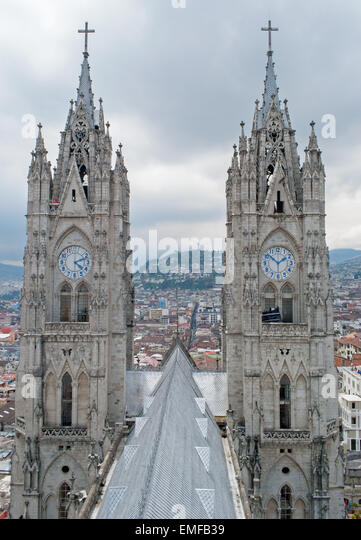 Quito - The outlook from Metropolitan Cathedral of Quito - Stock Image