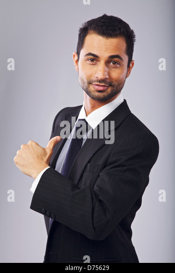 Handsome young professional hand gesturing - Stock Image