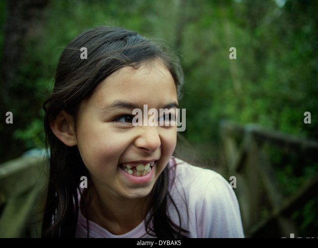 Cheeky laughter - Stock Image