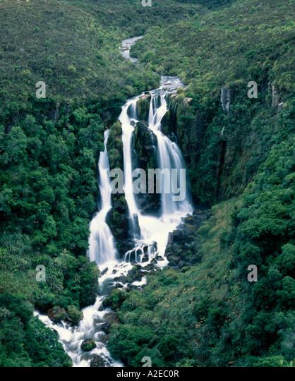 new zealand north island Waipunga Falls between Lake Taupo and Napier Neuseeland Waipunga Wasserfall Nordinsel - Stock Image