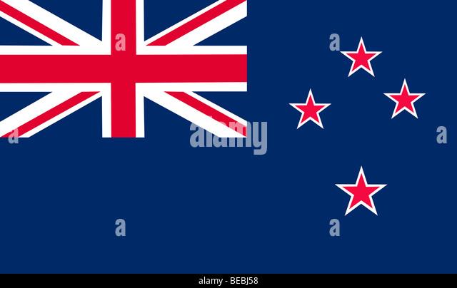 New Zealand flag illustration - Stock Image