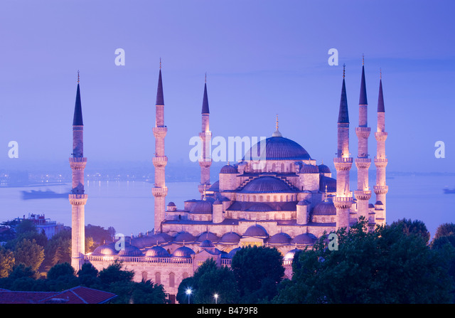 Turkey Istanbul Sultan Ahmed Mosque Blue Mosque - Stock Image