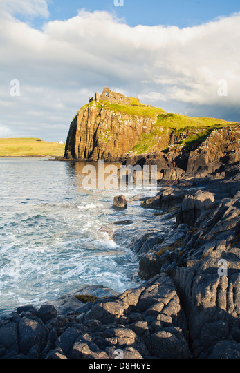 Ruins on the coast, Scotland - Stock Image