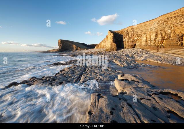 Nash Point. Glamorgan Heritage Coast. Vale of Glamorgan. Wales. - Stock Image