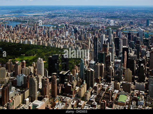 aerial photograph Central Park, Manhattan, New York City - Stock Image