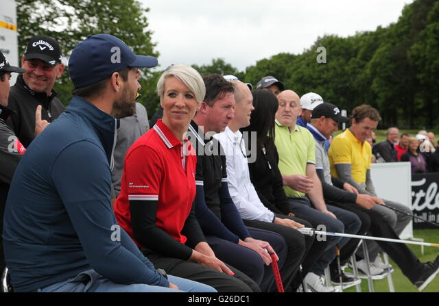 Virginia Water, Surrey, UK. 25th May, 2016.    Celebrities play in the Pro-Am event prior to the BMW/PGA Championship - Stock Image