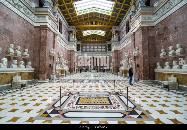 Interior of the Neo-classical Walhalla hall of fame on the Danube. Bavaria, Germany, Europe - Stock Image