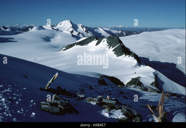 The Weisskugel from the Fluchtkogel, Ötztal Alps, Austria - Stock Image