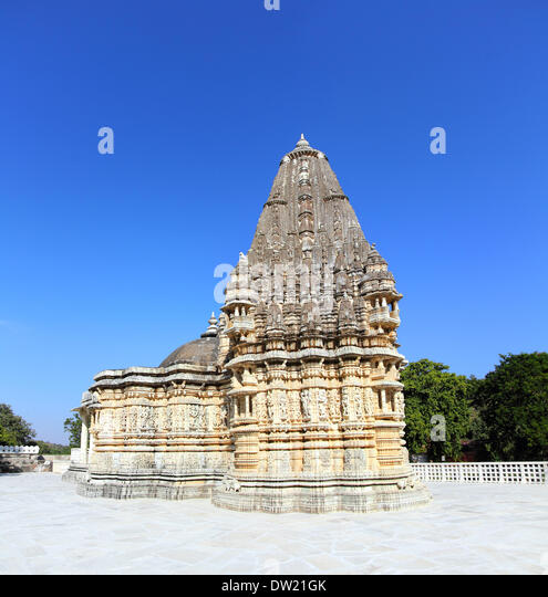 ranakpur hinduism temple in india - Stock Image