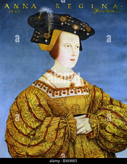 Anna, 23.7.1503 - 27.1.1547, Queen of the Romans 5.1.1531 - 27.1.1547, portrait, print after painting by Hans Maler, - Stock Image