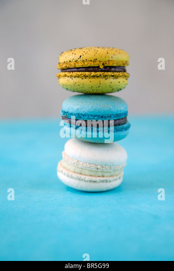 stack of macaroon cookies - Stock Image