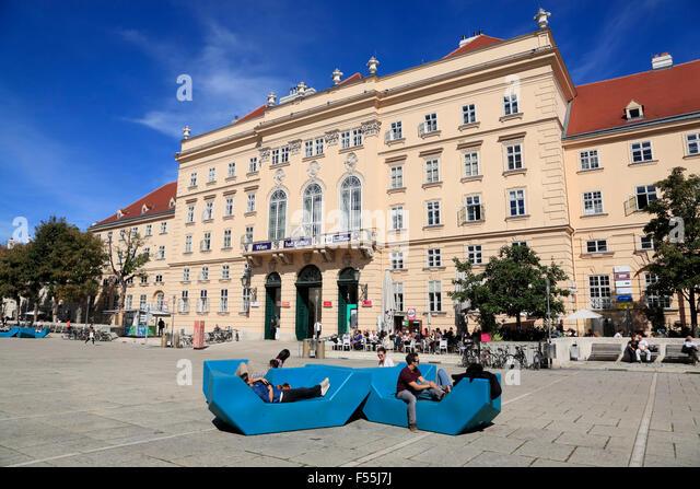 Museums quarter,  Vienna, Austria, Europe - Stock Image