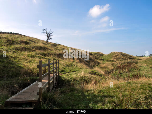 Hadrian's Wall National Trail - Stock Image