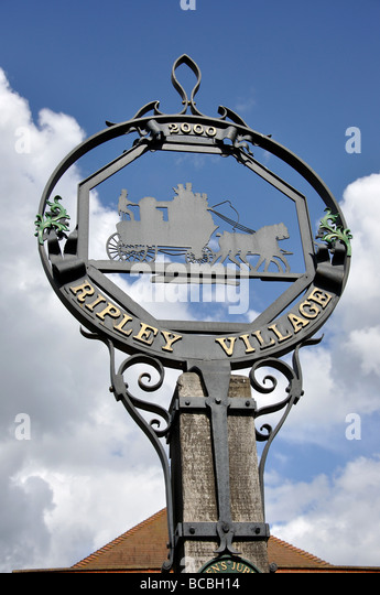 Ripley United Kingdom  city images : Village sign, Ripley Green, Ripley, Surrey, England, United Kingdom ...