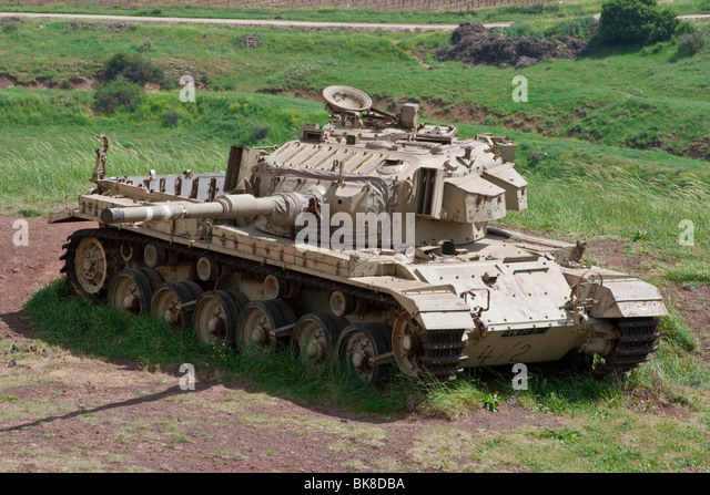 Old IDF Centurion - Shot Kal Gimel (MK III) near the memorial in the Valley of Tears - Stock Image