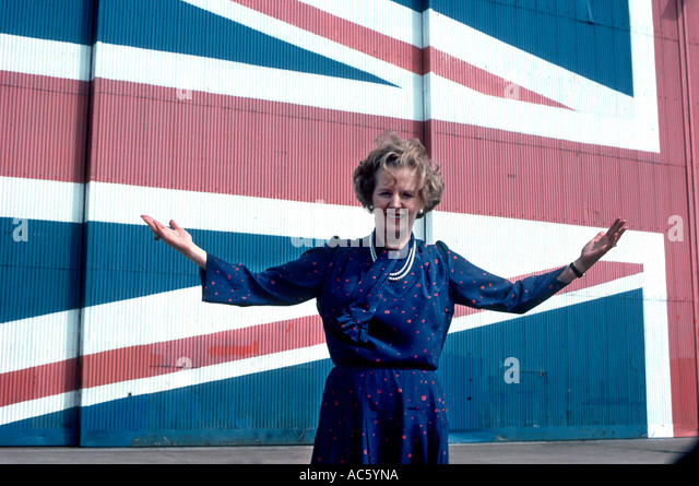 MARGARET THATCHER 1983 ELECTION CAMPAIGN - Stock-Bilder