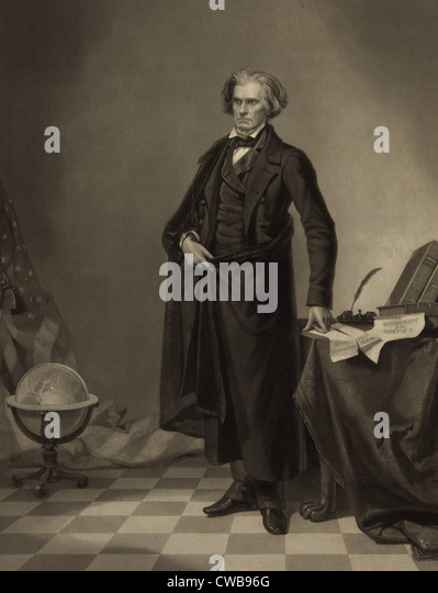 John C. Calhoun, 1852 - Stock Image