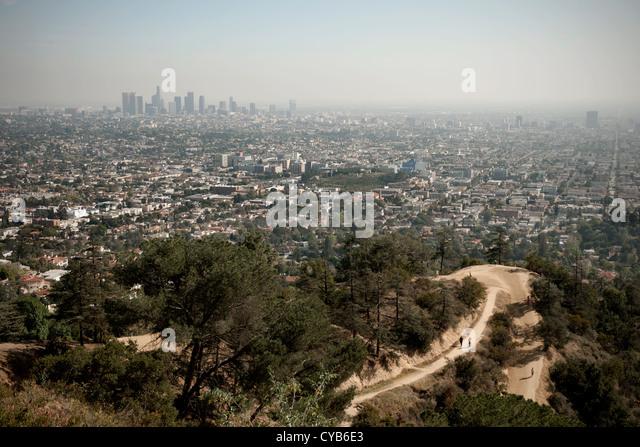 Los Angeles skyline, California, USA - Stock Image