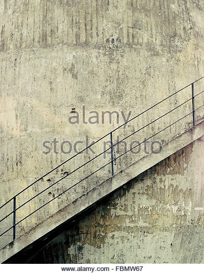 Staircase Against Building Wall - Stock-Bilder