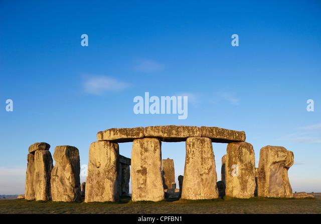England, Wiltshire, Stonehenge - Stock Image