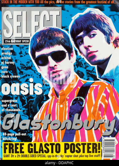 Select Magazine - August 1995, Oasis front cover - Stock Image