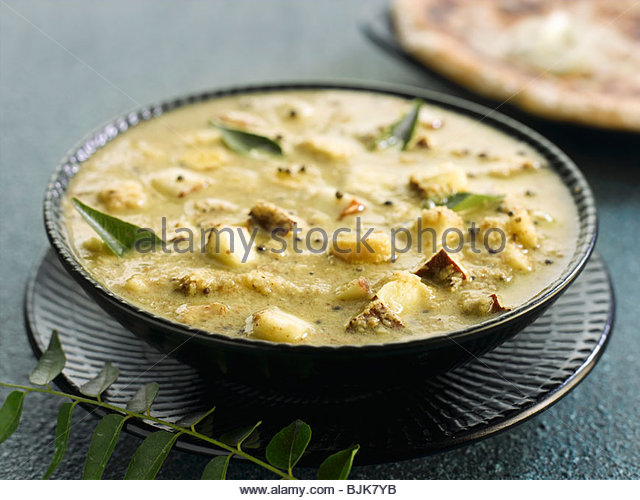 A plate of ginger curry - Stock Image