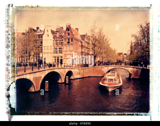 Keizersgracht Canal, Amsterdam, Holland - Stock Image