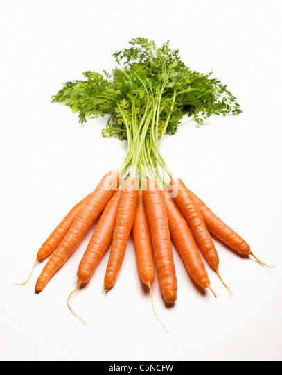 A bunch of carrots - Stock Image