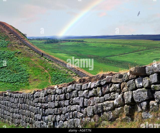 GB - NORTHUMBERLAND: Hadrian's Wall - Stock Image