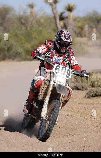 Jun 06, 2009 - Valle de la Trinidad, Baja Norte, Mexico - RICHARD JACKSON, winner of Class 60 (Riders over 60 years - Stock Image
