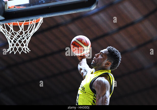 Tokyo, Japan. 15th Jan, 2017. Ira Brown (Sunrockers) during the B League All Star Game 2017 Dunk contest at 1st - Stock Image