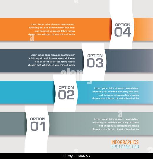 Four Modern Infographics Options Banners - Stock Image
