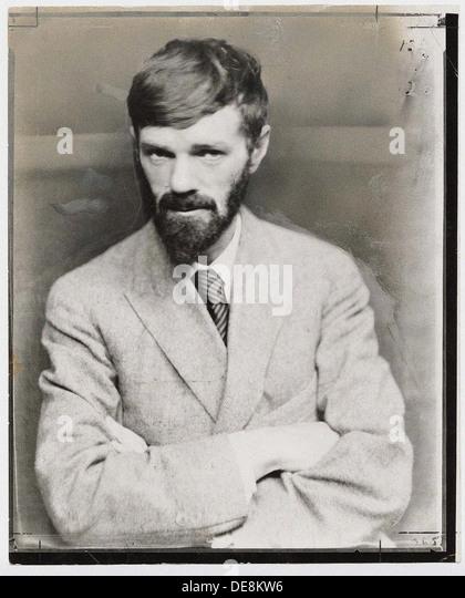 David Herbert Lawrence (1885-1930). Artist: Anonymous - Stock Image
